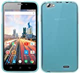 cofi1453 Archos 55 Helium Plus // Silikon Hülle Schutzhülle Gel GummiHülle Cover Case Schale in Blau