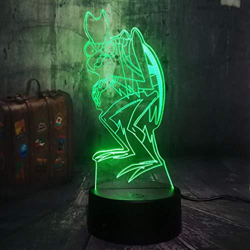 WangZJ Nachtlicht Für Kinder 3d Led Beleuchtung / 7 Farbe Licht Für Mädchen Weihnachten/halloween Geburtstagsgeschenk/Zorak Raum Geist