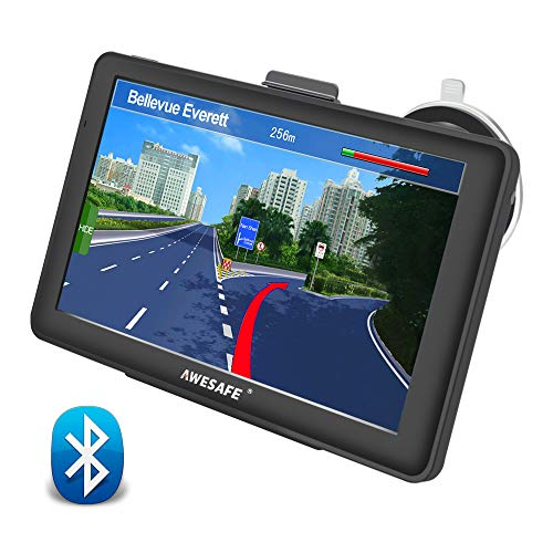 GPS Voiture Auto Europe 7 Pouces Ecran Tactile Cartographie Europe 52 à Vie Mises à Jour gratuites de la Carte (avec Caméra)