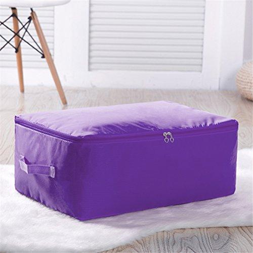 Kleideraufbewahrung Aufbewahrungstasche Bettdecken und Kissen Decken Betten Bettwaren Kissen perfekte Tragetasche oder Aufbewahrungstaschen auch für Stillshine (L: 60 * 50 * 24cm, lila)