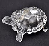 Pooja Art Gallery-Fengshui Vastu Original Clear Crystal Turtle for Peace & Prosperity (Big) (Size: Small - 3 Inch)