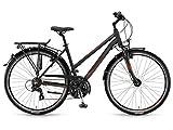 Winora Stadtfahrrad Santiago Damen 28'' 21-G TX800 17/18 schwarz/grau/rot matt 48