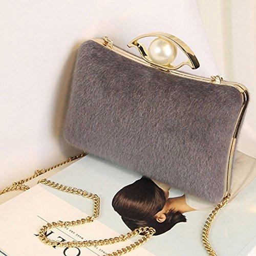 SSMK Evening Bag, Poschette giorno donna Gray