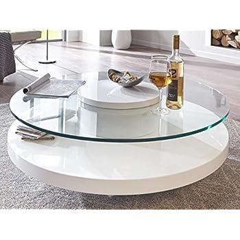 couchtisch glas rund wei hochglanz almada lack sicherheitsglas beistelltisch k che. Black Bedroom Furniture Sets. Home Design Ideas