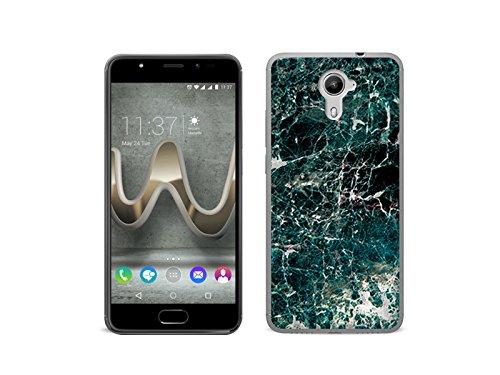etuo Handyhülle für Wiko Ufeel Prime - Hülle Fantastic Case - Grüner Marmor - Handyhülle Schutzhülle Etui Case Cover Tasche für Handy