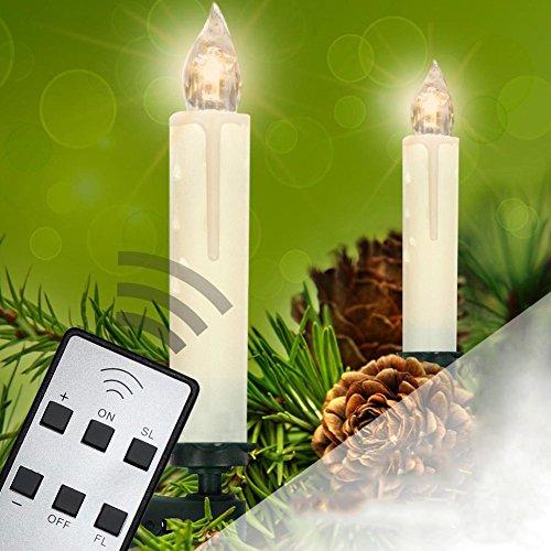 rokoo 10/20/30PCS kabellos de Weihnachten LED Kerze Licht Fernbedienung Xmas Baum Beleuchtung Décor, 20PCS