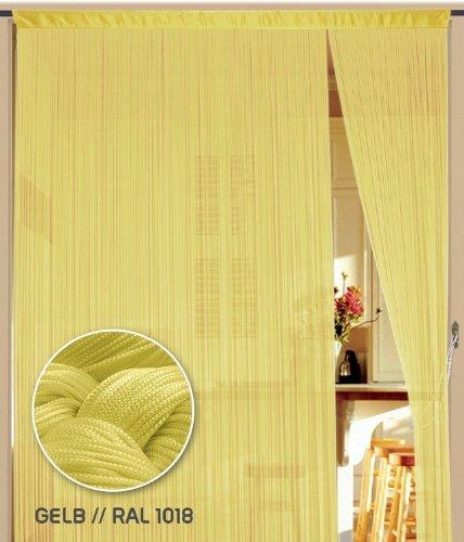 Fadenvorhang 90 cm x 240 cm (BxH) gelb