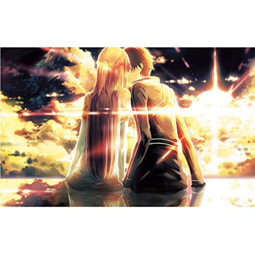 sshssh (Nessuna Cornice) 5D Fai da Te Pieno di Diamanti Pittura A Punto Croce Cartoon Art Online Anime Mosaico Immagine Diamante Incompiuto Ricamo