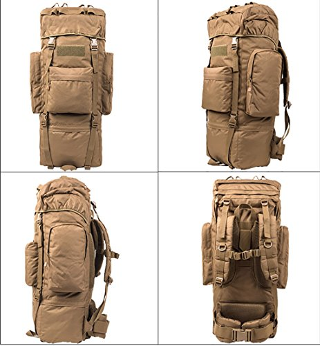 zaino trekking Uomini e donne di 65L / 100L Spalle di grande capacità Indietro i sacchetti di bagaglio dello zaino escursionistico esterno Zaini da escursionismo ( Colore : 7 , dimensioni : 65L-30*20* 7