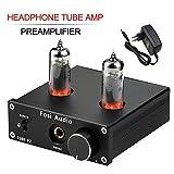 Fosi Audio P2 - Amplificatore per cuffie Preamplificatore con tubo a vuoto Mini audio stereo Hi-Fi con protezione di uscita a basso rumore da terra per cuffie