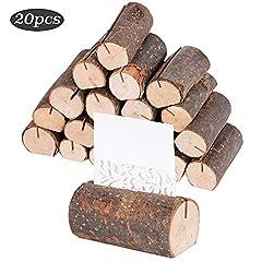 20 Stück Holz Holzsteg Platzkartenhalter