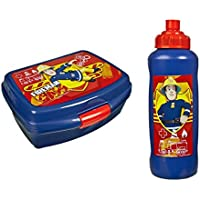 Feuerwehrmann Sam 2 tlg. Brotdose Pausenbrot Lunchbox + Trinkflasche fireman (1) preisvergleich bei kinderzimmerdekopreise.eu