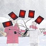 USB termica gilet termico regolabile terzo Gear interruttore di controllo della temperatura Wash flessibile riscaldati Pad riscaldamento elettrico panno Pad