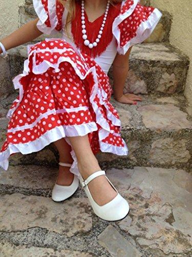 La Senorita Chaussures flamenco espagnol - Blanc Blanc