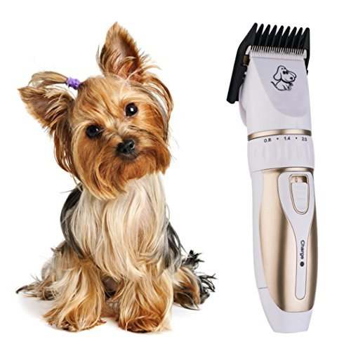 Dog Clippers, SANNYSIS Pet Cat Hair Trimmer Professional Beauty Grooming Cutting Shaving 6.77x1.73x1.34 inches