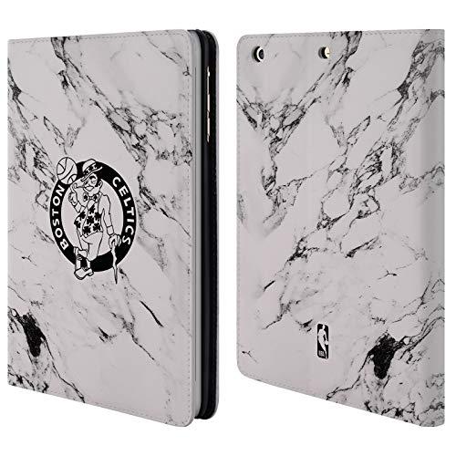 Head Case Designs Offizielle NBA Marmor Weiss 2018/19 Boston Celtics Brieftasche Handyhülle aus Leder für iPad Mini 1 / Mini 2 / Mini 3 Boston Celtics Mini