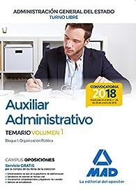 Auxiliar Administrativo de la Administración General del Estado par  Varios autores