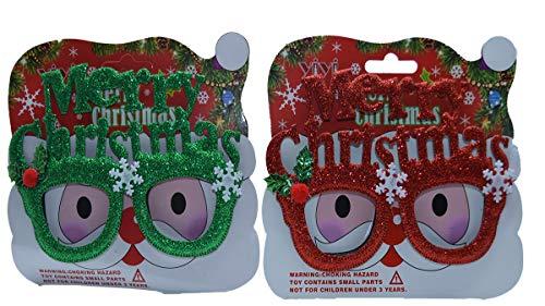 GYD Weihnachtsbrille Weihnachten Weihnachtsmann Brille Dekoration Weihnachtsschmuck Merry Christmas (Gold) (Weihnachten Grinch Dekorationen)