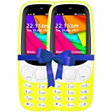 I KALL 2.4 Inch Display Dual Sim Mobile Combo With Feature Of Wireless FM, Bluetooth, GPRS, 1800 Mah Battery Capacity - K35 (Yellow & Yellow)