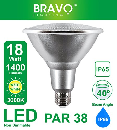 Bravo Lighting PAR38 18W IP65 LED E27 Equivalent