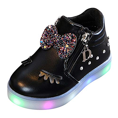 88666d23d3958 Anglewolf Children Colorful Light Shoes Toddler Infant Baby Boys Girls Star  Luminous Boots Up Led Sneaker
