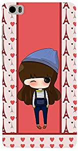 PRINTVISA Cartoon pattern Girl Case Cover for Xiaomi Mi5