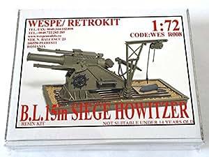 WES R008 1:72 15in SIEGE HOWITZER -Resin Kit Wespe Models