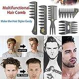 TAOtTAO 5 STÜCKE Set Retrostil breiter Zahnkammölkopfkamm-Haarkamm Neue Haar Kamm Für Männer Haar Styler Einfügen Haar Pick Kamm Zeigen Breite Zahn (A)