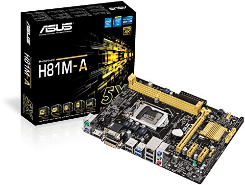 Asus H81M-A Haswell Mainboard Sockel 1150 (ATX, Intel H81, 16x PCIe, DDR3 Speicher)
