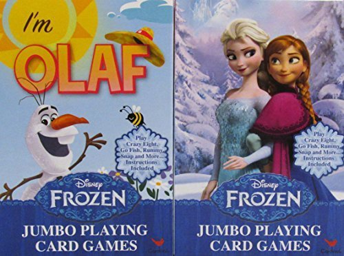 Disney Frozen Elsa & Anna and Olaf Jumbo Playing Card Games (2 Pack)