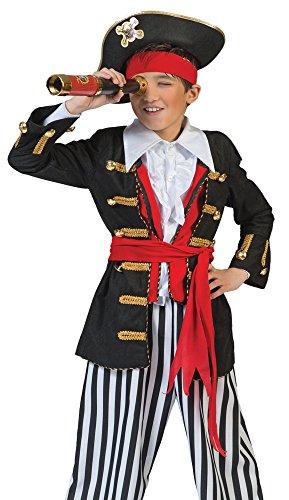 irat Kostüm für Kinder Gr. 140 - Tolles Piraten Seeräuber Kostüm für Jungen zu Karneval und Mottoparty (Tolle Kostüme Für Kinder)