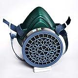 LAIABOR Respiratore Maschera Antigas semimaschera Riutilizzabile Anti-Polvere Spray Gas Chemical Doppia Protezione delle Vie respiratorie Vernice Filtro