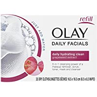 Olay 4-In-1 Daily Facial Cloths, Normal Skin 33 Count by Olay