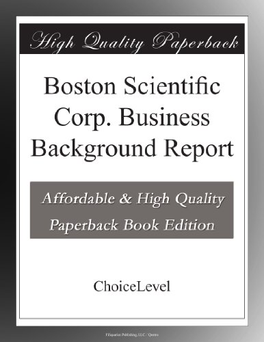 boston-scientific-corp-business-background-report