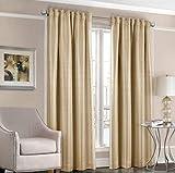 Designers' Select Satin Stripe Vorhang für Gardinenstangen/Schlaufen, 248 cm, Hellblau