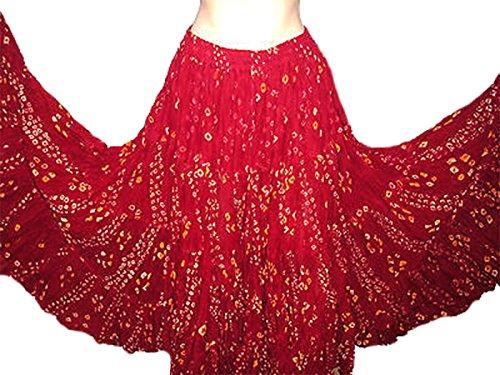 Polka Dot 25 Yard Yards Tribal Gypsy Baumwolle Bauch Tanzen Tanz Rock (Rot)