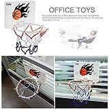 Milkee Innenminibasketballkorb beim Büro Zimmer Mini Basketball Brett Kinder Freizeit Sport mit Ball und Pumpe - 4