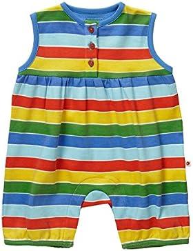 Piccalilly Bio-Baumwolle Vielfarbig Baby Jungen Baby Mädchen Baby Unisex Regenbogen Gestreifde Shortie Strampler