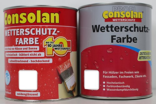 Preisvergleich Produktbild 5L Consolan Wetterschutzfarbe rot 211 Holzdeckfarbe Deckfarbe Holzfarbe