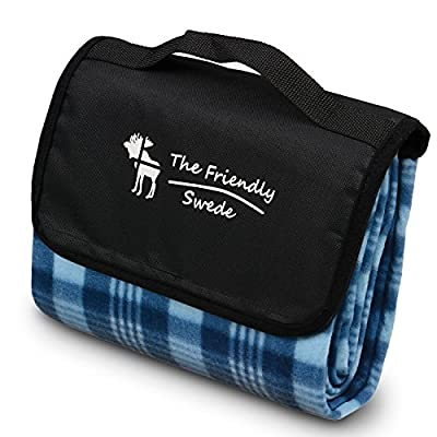 The Friendly Swede Folding Outdoor Picnic Blanket Picnic Rug Waterproof Backing - cheap UK light store.