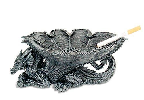 KATERINA PRESTIGE - Cenicero con diseño de dragón, Color marrón