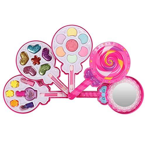 Hamkaw Make-up Für Mädchen Vorgeben Kids Waschbares Echt Make-up Set - Lutscherförmiges All-in-One Make-up Set Für Mädchen (Princess Kleinkinder Für Dress Kleidung Up)