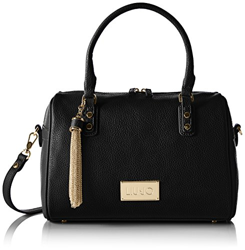 Liu Jo Damen Boston Bag Minorca Bowlingtaschen, Schwarz (Black 22222), 31 x 22 x 17 cm (Elegante Bag Boston)