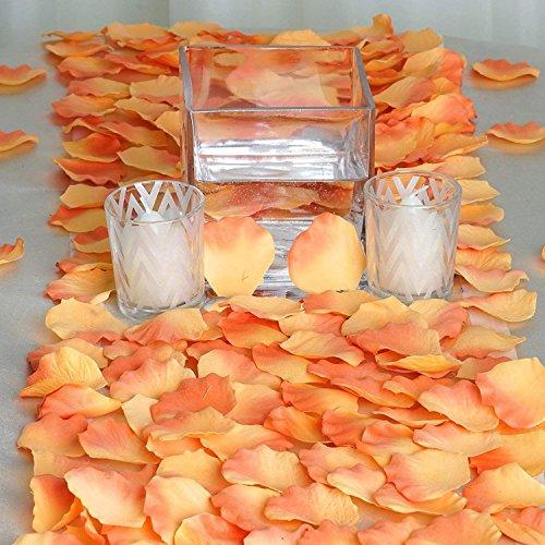 künstlich, Rosenblätter, Rosa Simulation, für Dekoration Hochzeit 2000 Stück Orange ()