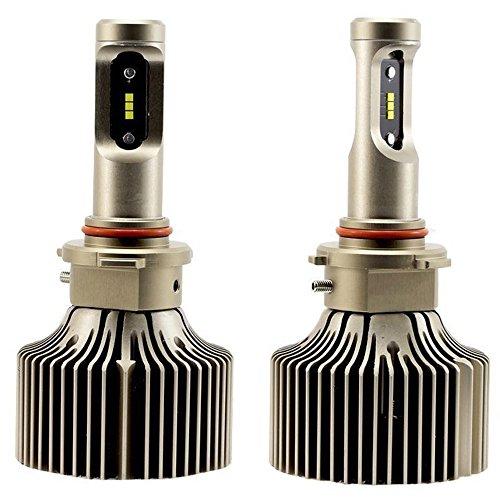 NIGHTEYE 9005/HB3 LED Auto Scheinwerfer 9000LM 60W Scheinwerferlampe mit CSP LED CHIPS, 6000K kühles Weiß, 3 Jahre Garantie(2 Stück)