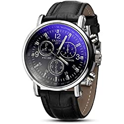 "JACKY Luxury Fashion Crocodile Faux Leather Men""s Analog Watch Watches New"