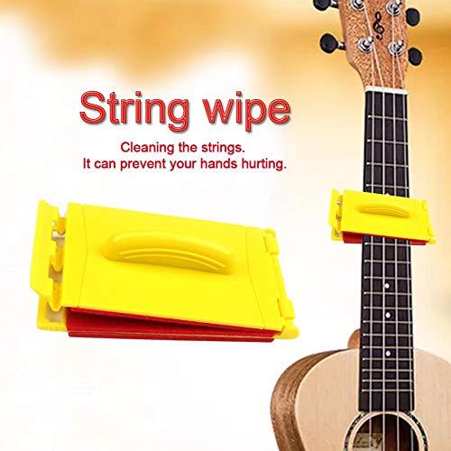 duhe189014 Gitarren-Saitenreiniger Gitarren-Reinigungswerkzeug Griffbrett-Reiniger Saiten Pflegepoliermittel Allround-Reiniger-Pads