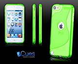 Apple iPod Touch 5 / 5G | iCues S-Line TPU Case Grün | [Display Schutzfolie Inklusive] Transparent Klarsichthülle Durchsichtig Klare Klarsicht Silikon Gel Schutzhülle Hülle Cover Schutz