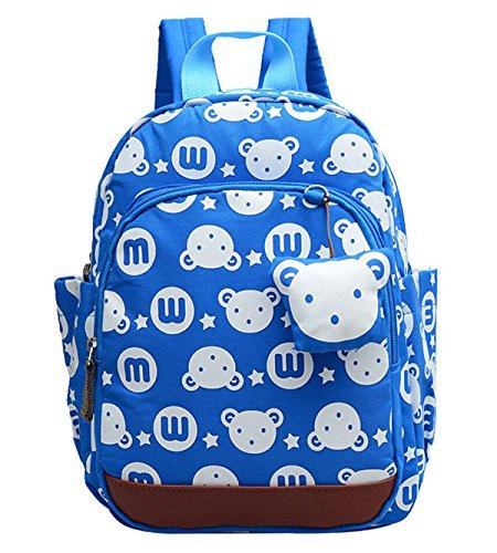 DNFC Kindergartenrucksack Kinderrucksack Mädchen Jungen Kindergartentasche Babyrucksack Schöne Kindertasche Kindergarten Schulrucksack Kleinkinder Rucksack Kinder Schultasche Backpack (Hellblau)