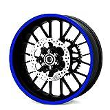 Resistente Reflectante Azul 600mm Tira Pegatina Coche Moto Quad Trike Ruedas Carrocería Tanque de Combustible